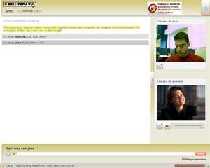 Sala do Bate-papo UOL com recurso de webcam